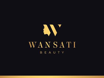 Wansati Beauty - Logo Identity logo designer icon brand design perfume beauty salon w logo w letter monogram logotype lettermark logo and branding brand identity cosmetic logo south africa conceptual logo minimal woman beauty wansati