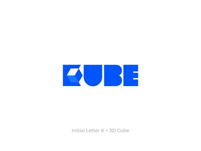 KUBE - Logo Design business startup social media modern marketing agency logomark illusion 3d negative space brand identity logotype cube logo cube geometric lettermark monogram branding logo design logo minimal