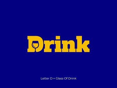 Letter D - Drink Logo application brand identity logo designer graphic design conceptual wordmark d logo letter d negative space drink ui design concept branding logo design symbol flat logo minimal