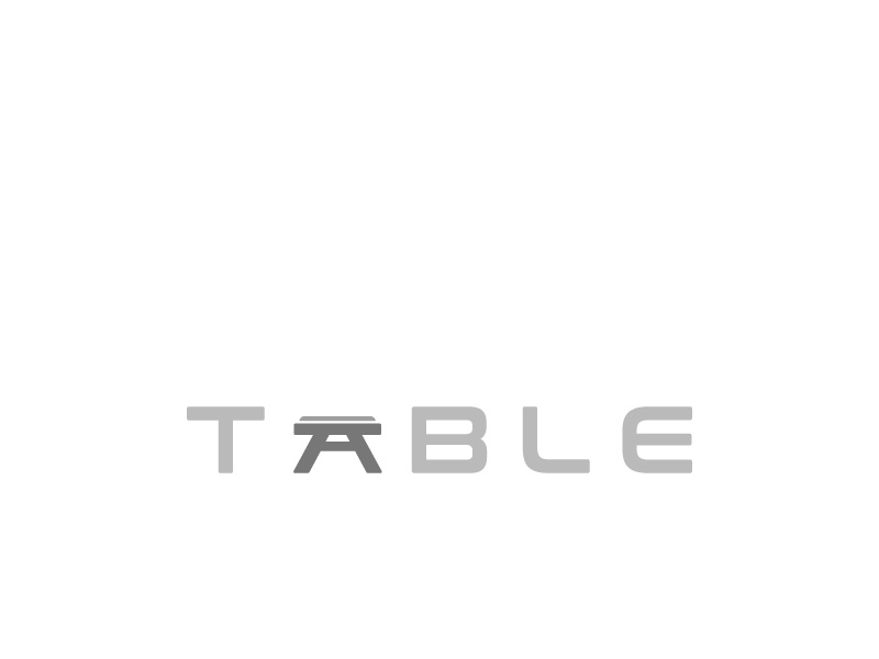 Table Wordmark symbol furniture logo furniture concept wordmark flat minimal design logo table