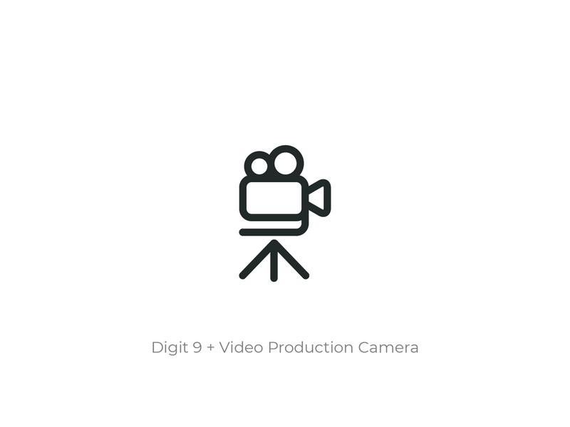 Video Production House - Logo Design brand identity logo designer monogram conceptual design illustrator photography video production studio logomark simple vector icon branding logo design design concept symbol logo flat minimal