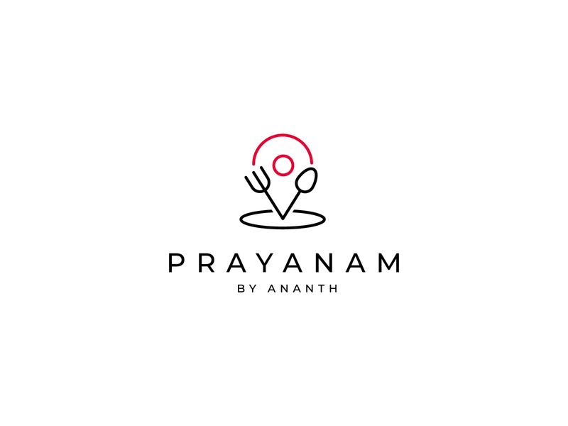Prayanam - Logo Design illustrator application icon ui usa concept art conceptual design logo designer minimalism journey food simple vector icon branding logo design design symbol logo flat minimal