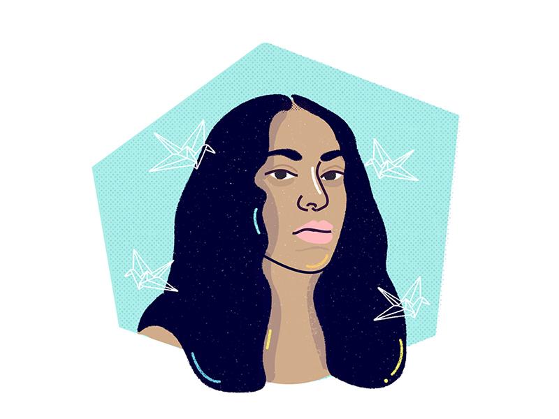 Solange aseatatthetable music cranesinthesky solange illustration
