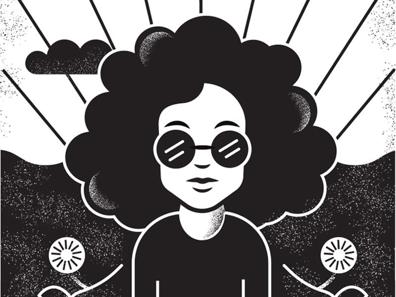 9 soulglow afro woman illustration tarot