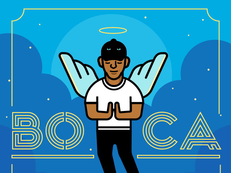 Album Cover beats vans angel boca hiphop music illustration