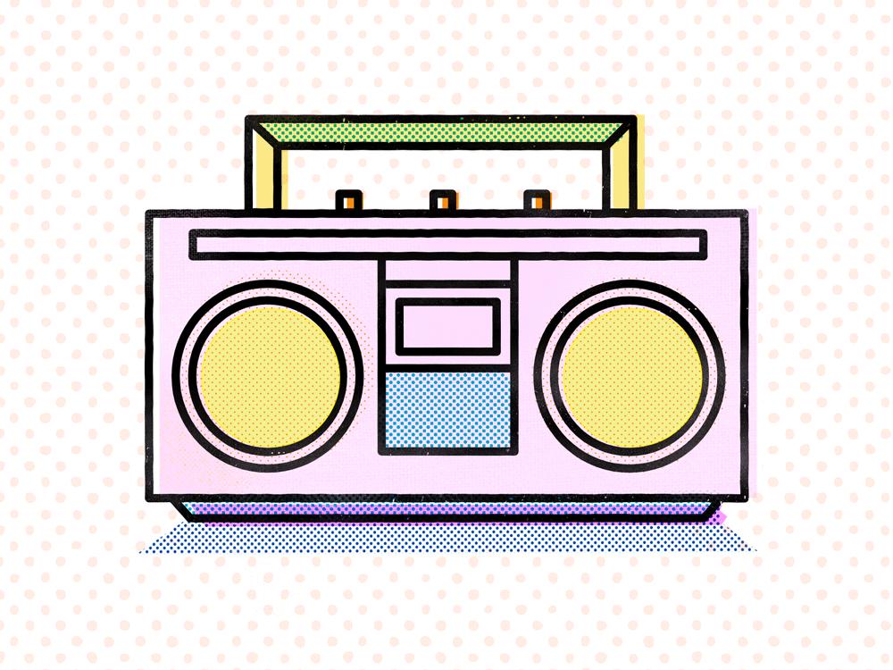 Speaker Box doodle illustration design music