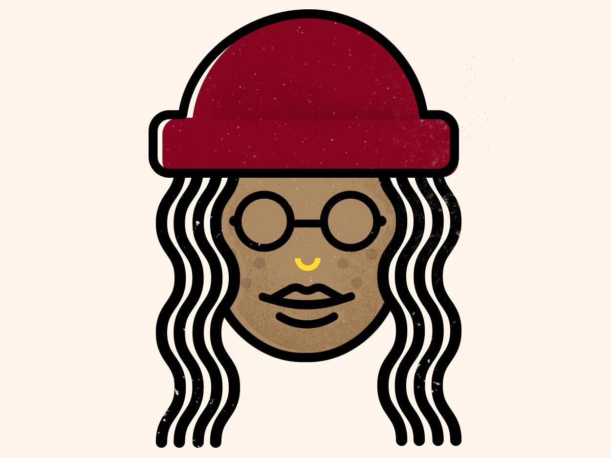 Beanie Season beaniesigel design vector artwork graphicdesigner illustration doodle selfportrait beanie
