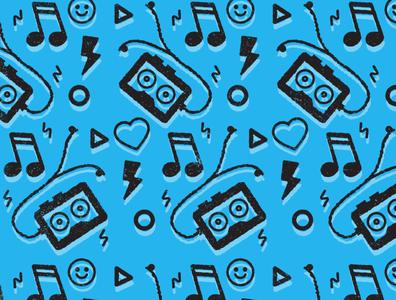 90s Music Pattern