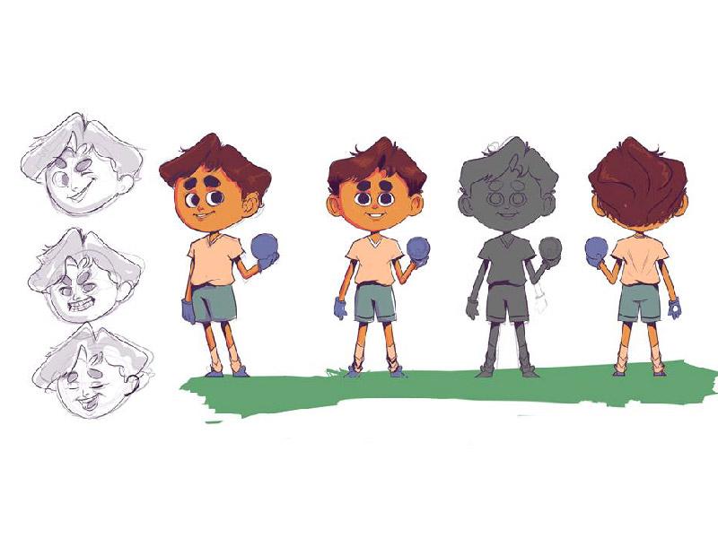KID art concept cartoon design character kid