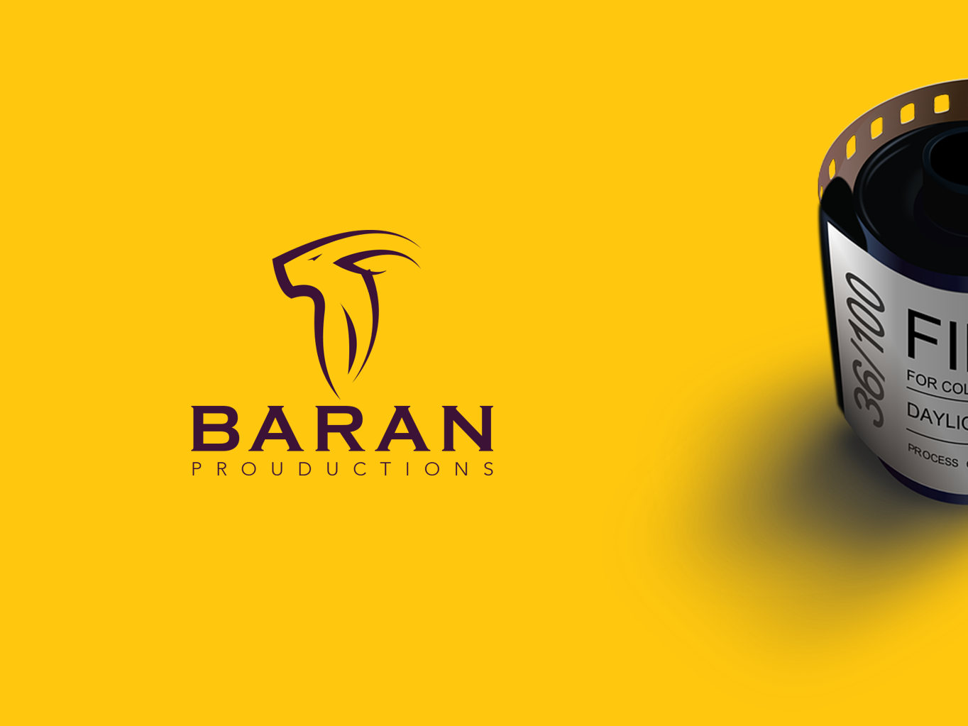 BARAN | PROUDUCTIONS logo direction art design graphic prouductions branding