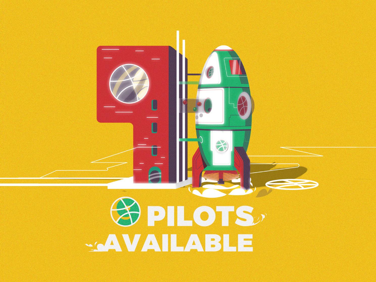 9 INVITES invitations vector concept direction art rocket illustration dribbble invite