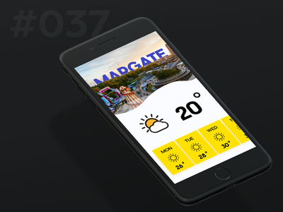 Daily Ui 037 - Weather mobile weather 37 037 ui daily