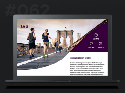 Daily Ui 062 - Workout of the Day