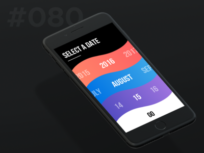 Daily Ui 080 - Date Picker mobile picker date 80 080 ui daily