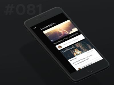 Daily Ui 081 - Status Update social mobile dark update status 81 081 ui daily