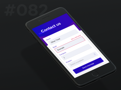 Daily Ui 082 - Form mobile us contact form 82 082 ui daily