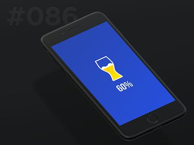 Daily Ui 086 - Progress Bar beer mobile bar progress 86 086 ui daily