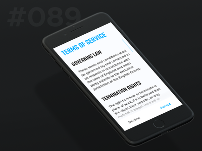 Daily Ui 089 - Terms of Service conditions service of terms 89 089 ui daily