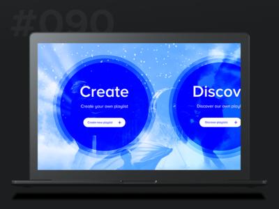 Daily Ui 090 - Create New music new create 90 090 ui daily