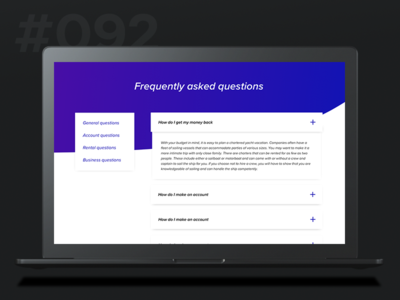 Daily Ui 092 - FAQ drop desktop questions asked frequently faq 092 92 ui daily