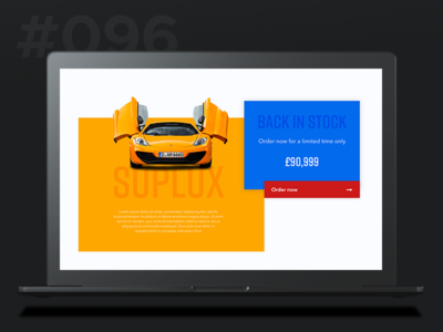 Daily Ui 096 - Currently In Stock product desktop stock in currently 96 096 ui daily