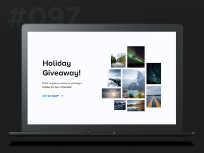 Daily Ui 097 -  Giveaway giveaway grid header 97 097 ui daily