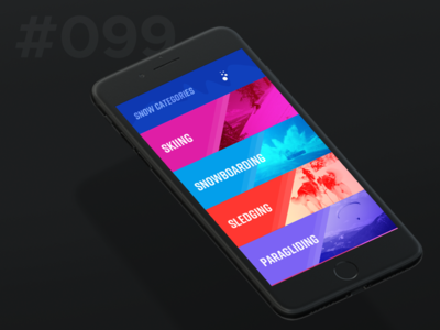 Daily Ui 099 - Categories mobile snow categories 099 99 ui daily