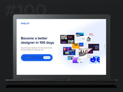 Daily Ui 100 - Daily Ui Landing Page desktop banner page landing 100 ui daily