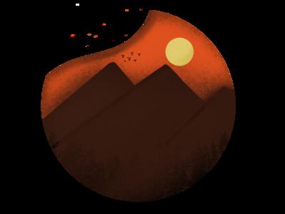 Sunset procreate illustration