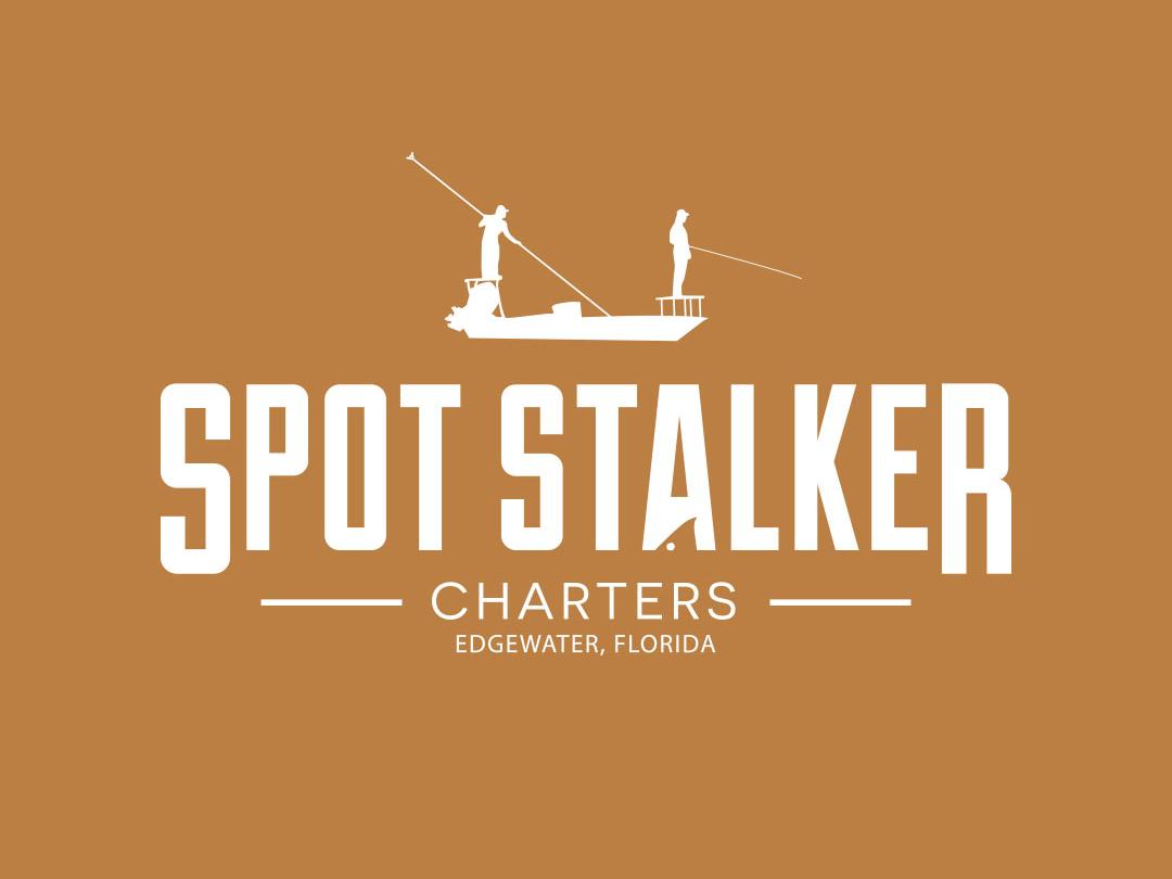 Spot Stalker Charters Logo logo illustration design branding outside adventure illustrator typography vector