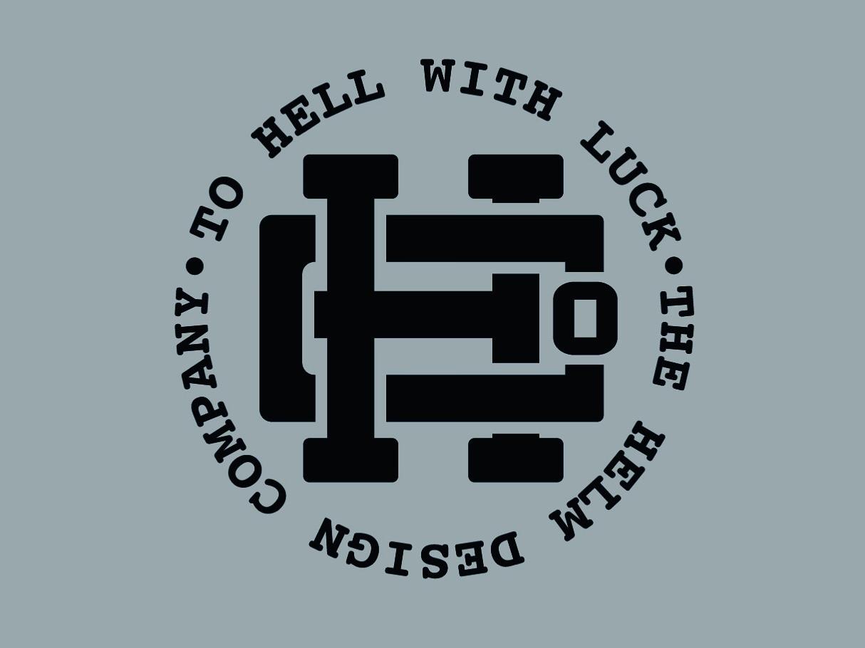 Helm Co. Monogram badge icon typography letters lettering illustration hand lettering design branding illustrator vector
