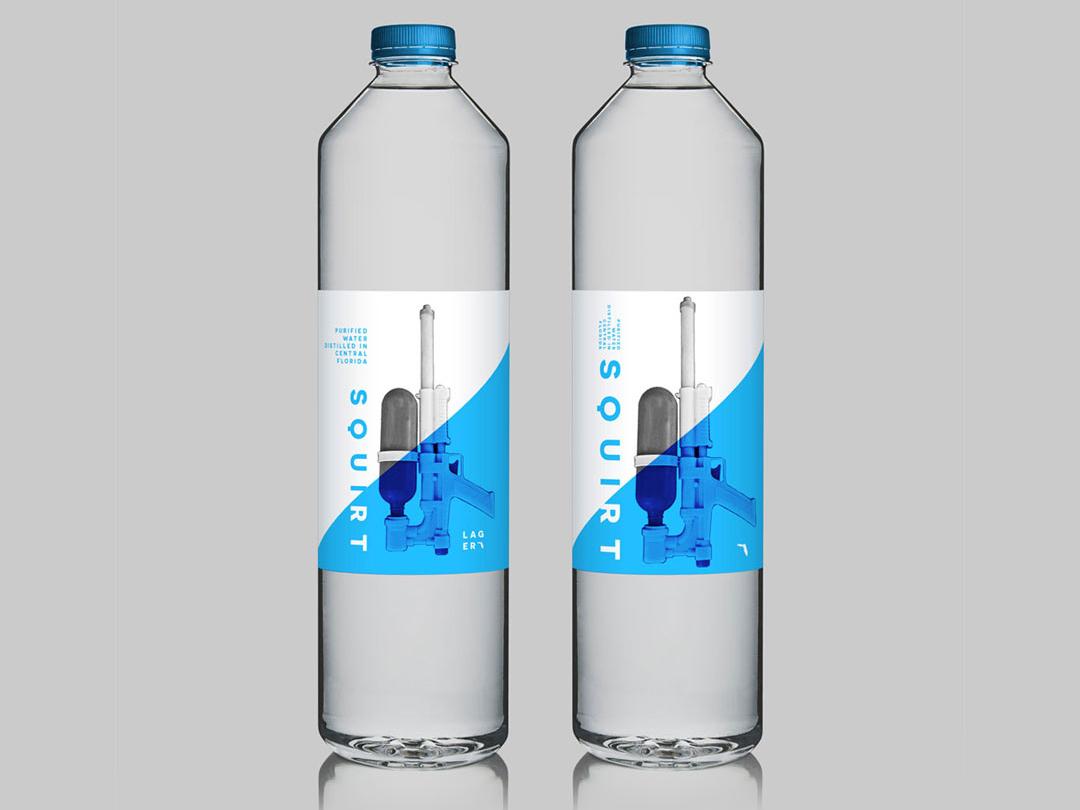 Squirt! graphicdesign design graphic practicing bottle mockup designer bottle water practice