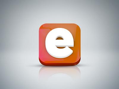 Everpix Icon - 3d Version everpix 3d icon glossy orange white red reflection