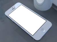 iphone 5 presentation template with mug