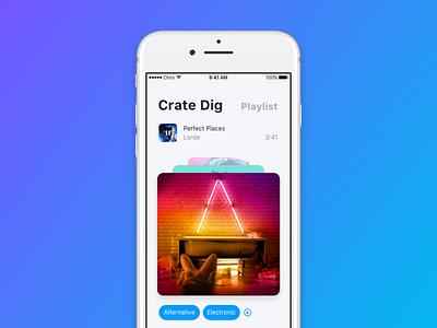 Songswipe 2 design framer random player playlist ios11 ios redesign refresh music apple songswipe