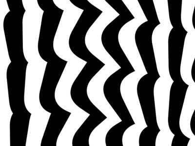 Waves wave pattern loop creative coding black and white processing