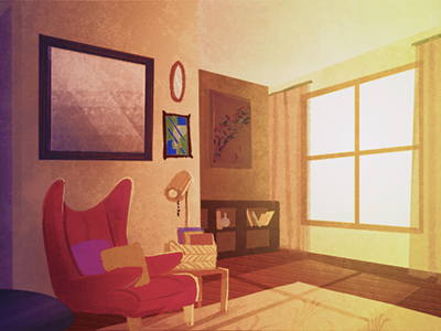 Livingroom Another Animation Background Painting