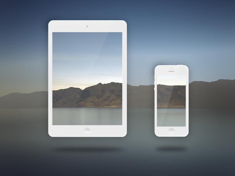 Apple-mockup freebie apple iphone5 ipad mini vector icon ios
