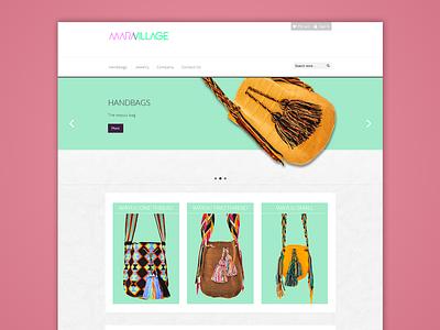 Maravillage Home web magento design flat purses bag wayuu shop