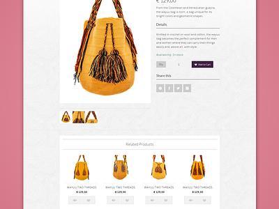 Maravillage Single web magento design flat purses bag wayuu shop