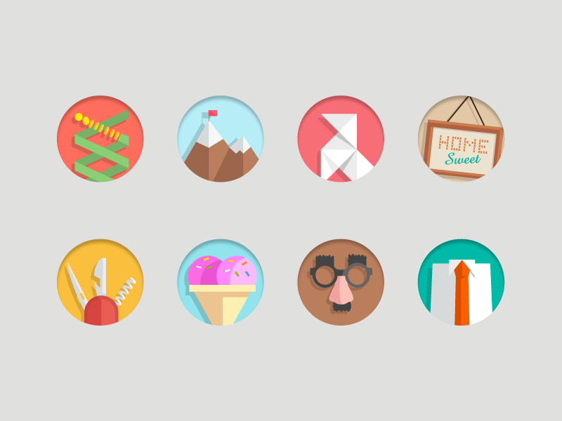 Flat Icons icons flat android app web ios icon illustrator ui
