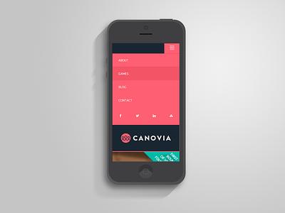 Canovia mobile web app ios css3 design html5 responsive games kids menu