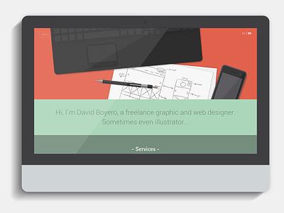 Boyero Home web personal menu css3 html5 responsive mobile tablet website