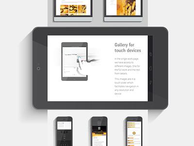 Boyero Tablet view web personal menu css3 html5 responsive mobile tablet website.
