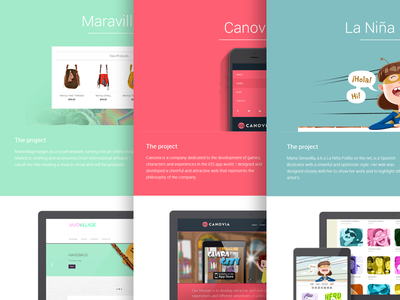 Projects pages web personal menu css3 html5 responsive mobile tablet website.