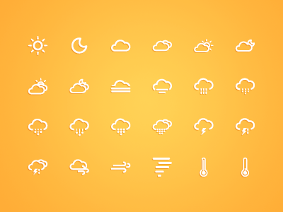 Ico Weather icons icon weather ui android ios ai illustrator font webfont css forecast