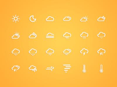 Ico Weather icons icon weather ui android ios ai illustrator font webfont css forecast