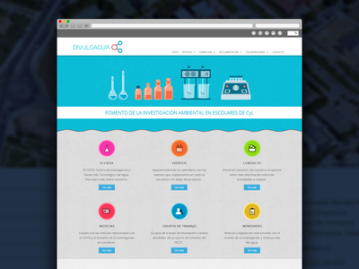 Divulgagua web responsive css3 html5 web design mobile water investigation browser