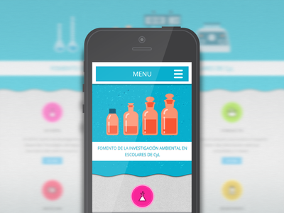 Divulgagua mobile view web responsive css3 html5 web design mobile water investigation browser icon icons illustration