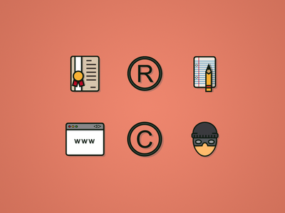 Iconos Color icons icon ui android ios ai illustrator web intellectual property
